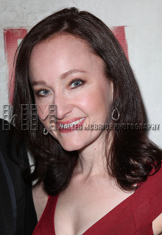 Melissa van der Schyff.attending the Broadway Opening Night Performance of 'EVITA' at the Marquis Theatre in New York City on 4/6/2012