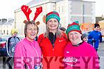 Margaret, Geraldine Histon and Yvonne O'Connor at the run Santa Run 5k in Castleisland on Sunday