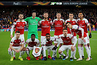 Arsenal Team Photo. Back row, (L-R) Sead Kolasinac, Petr Cech, Shkodran Mustafi, Laurent Koscielny, Granit Xhaka and Pierre-Emerick Aubameyang. Front Row (L-R) Aaron Ramsey, Ainsley Maitland-Niles, Alexandre Lacazette, Nacho Monreal and Mesut Ozil during Arsenal vs Rennes, UEFA Europa League Football at the Emirates Stadium on 14th March 2019