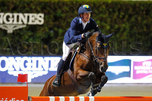 30th September 2017, Real Club de Polo de Barcelona, Barcelona, Spain; Longines FEI Nations Cup, Jumping Final;  Henrik Von Eckermann (SWE) ridding Mary Lou 194
