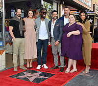 LOS ANGELES, CA. March 25, 2019: This is Us, Milo Ventimiglia, Jon Huertas, Sterling K. Brown, Mandy Moore, Justin Hartley, Chrissy Metz & Susan Kelechi Watson at the Hollywood Walk of Fame Star Ceremony honoring actress & singer Mandy Moore.<br /> Pictures: Paul Smith/Featureflash