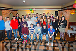 James Joy seated front centre from Dromid, celebrated his 21st birthday in the Kerry Coast Hotel, Cahersiveen on Saturday night last with family and friends.