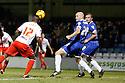 Francis Zoko of Stevenage equalizes<br />  - Gillingham v Stevenage - Sky Bet League One - Priestfield, Gillingham - 26th November 2013. <br /> © Kevin Coleman 2013