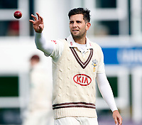 Jade Dernbach prepares to bowl for Surrey during the friendly game between Kent CCC and Surrey at the St Lawrence Ground, Canterbury, on Friday Apr 6, 2018