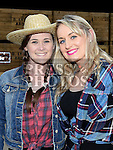 Amy Kehoe and Shirley McGill pictured at the barn dance in aid of Ballapousta National School at Oberstown Farm. Photo:Colin Bell/pressphotos.ie