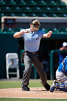 Umpire Taylor Payne during an Instructional League game between the Toronto Blue Jays and Detroit Tigers on October 12, 2017 at Joker Marchant Stadium in Lakeland, Florida.  (Mike Janes/Four Seam Images)