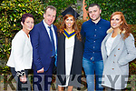 Laura Murphy from Tralee (Health and Leisure) who received her degree at the Graduation Ceremony from the I T Tralee in the Brandon Hotel on Friday., <br /> L-r, Maureen, Tom and Laura Murphy, John Murhill and Sarah Murphy.