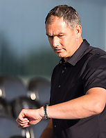Swansea City Manager Paul Clement looks at his watch during the 2017/18 Pre Season Friendly match between Barnet and Swansea City at The Hive, London, England on 12 July 2017. Photo by Andy Rowland.