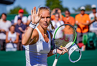 London, England, 2 th July, 2018, Tennis,  Wimbledon,  Kiki Bertens (NED) wins and jubilates<br /> Photo: Henk Koster/tennisimages.com