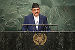 Nepal<br /> H.E. Mr. Prakash Sharan Mahat<br /> Minister for Foreign Affairs<br /> <br /> <br /> General Assembly Seventy-first session 20th plenary meeting<br /> <br /> General Debate