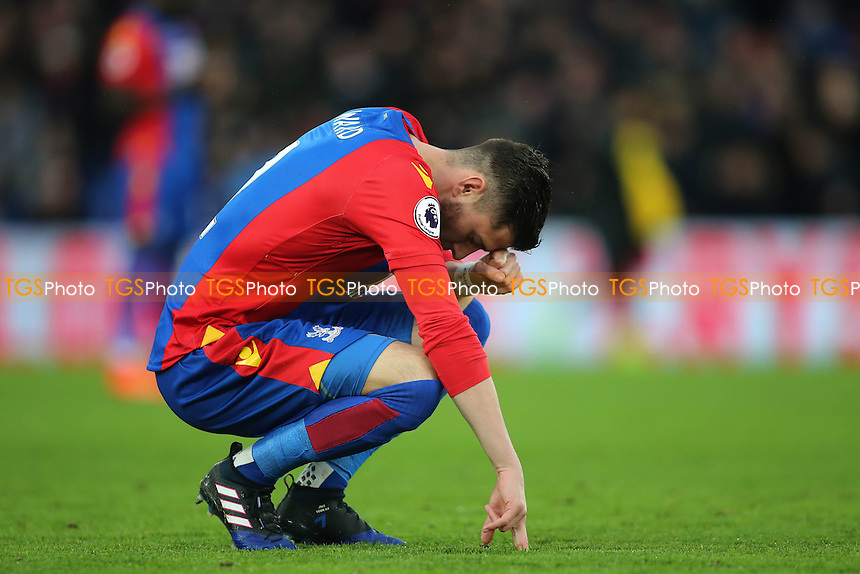 prematch ritual for Joel Ward of Crystal Palace during Crystal Palace vs Middlesbrough, Premier League Football at Selhurst Park on 25th February 2017