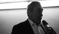 Eddy Merckx interviewed underneath the velodrome<br /> <br /> 2016 Gent 6<br /> day 1