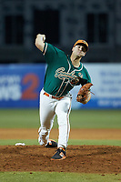 Greensboro Grasshoppers relief pitcher Colton Hock (40) in action against the Augusta GreenJackets at First National Bank Field on April 10, 2018 in Greensboro, North Carolina.  The GreenJackets defeated the Grasshoppers 5-0.  (Brian Westerholt/Four Seam Images)
