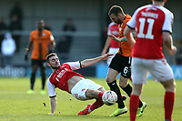Lewis Coyle of Fleetwood Town and James Dunne of Barnet during Barnet vs Fleetwood Town, Emirates FA Cup Football at the Hive Stadium on 10th November 2019