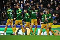Preston North End's Josh Harrop (second right) celebrates scoring his side's first goal with team-mates<br /> <br /> Photographer Kevin Barnes/CameraSport<br /> <br /> The EFL Sky Bet Championship - Blackburn Rovers v Preston North End - Saturday 11th January 2020 - Ewood Park - Blackburn<br /> <br /> World Copyright © 2020 CameraSport. All rights reserved. 43 Linden Ave. Countesthorpe. Leicester. England. LE8 5PG - Tel: +44 (0) 116 277 4147 - admin@camerasport.com - www.camerasport.com