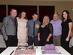 David Corr and his mam Amanda celebrating their 30th and 50th birthdays in the Westcourt hotel with Amanda's husband Dermot, son Graeme and daughters Rebecca and Hannah. Photo:Colin Bell/pressphotos.ie