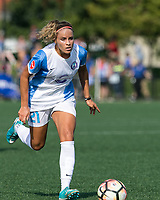 Boston, MA - Saturday August 19, 2017: Monica Hickmann Alves during a regular season National Women's Soccer League (NWSL) match between the Boston Breakers (blue) and the Orlando Pride (white/light blue) at Jordan Field. Orlando Pride defeated Boston Breakers, 2-1.