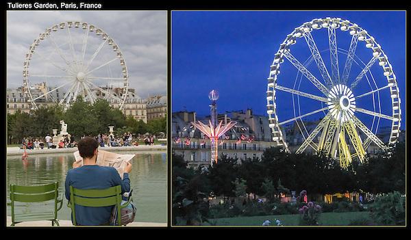 Tuileries Gardens and Ferris wheel, Paris, France.