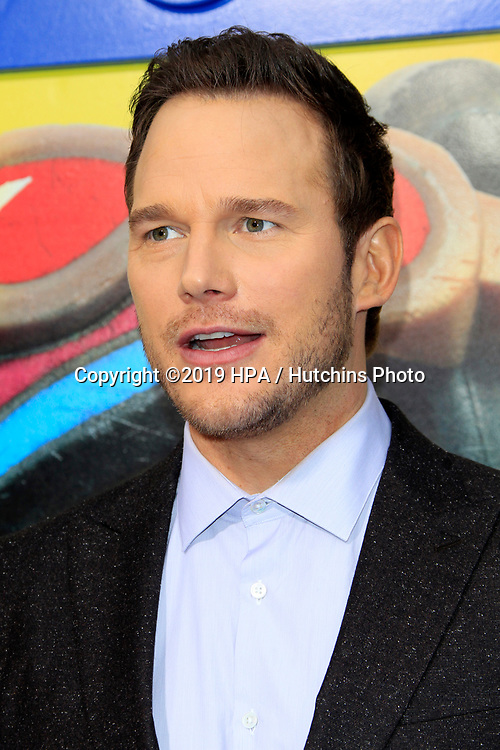 "LOS ANGELES - FEB 2:  Chris Pratt at ""The Lego Movie 2: The Second Part"" Premiere at the Village Theater on February 2, 2019 in Westwood, CA"