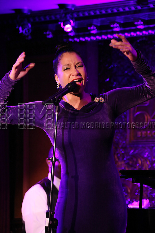 Ahmaya Knoelle Higginson - 'Sing, Harlem, Sing!'.performing at the 54 Below press preview on August 7, 2012 in New York City.