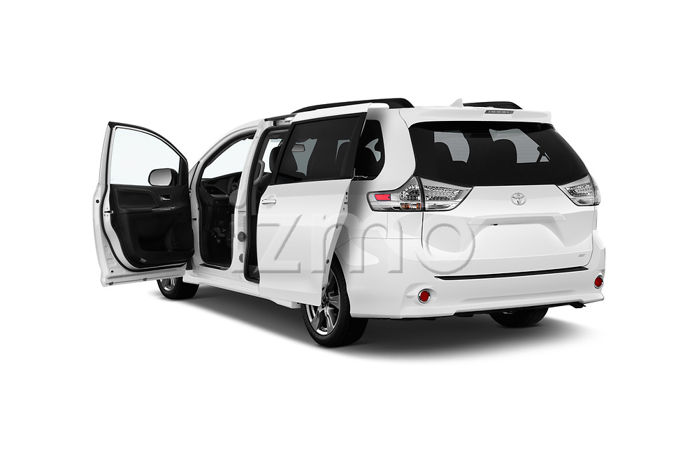 Car images close up view of a 2018 Toyota Sienna SE 5 Door Mini Van doors