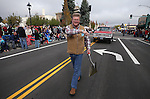 Congressman Mark Amodei walks in the annual Nevada Day parade in Carson City, Nev. on Saturday, Oct. 29, 2016. <br />