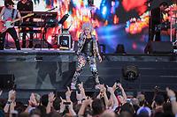 Cyndi Lauper performs at the Festival d'ete de Quebec (Quebec Summer Festival) on July 13, 2018.