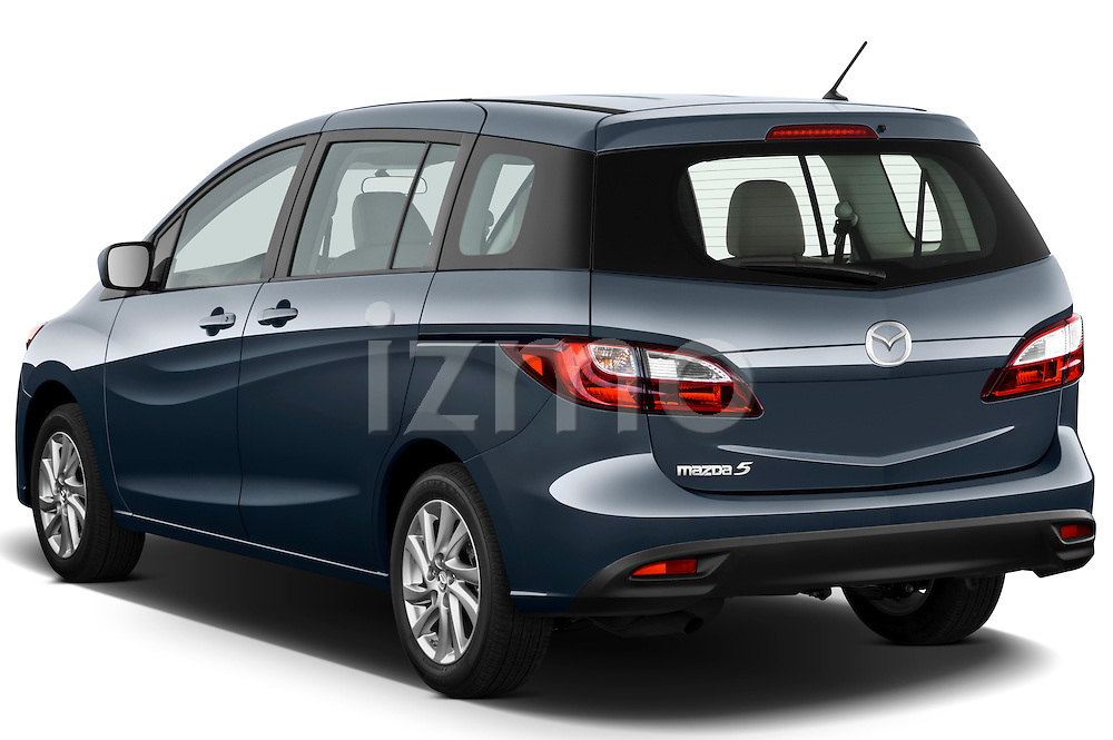 Rear three quarter view of a 2012 Mazda Mazda5