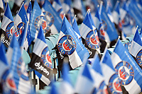 A general view of Bath Rugby flags in the stands. Aviva Premiership match, between Bath Rugby and Gloucester Rugby on April 30, 2017 at the Recreation Ground in Bath, England. Photo by: Patrick Khachfe / Onside Images