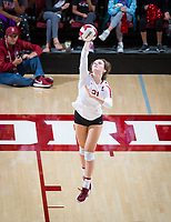 STANFORD, CA - October 12, 2018: Sidney Wilson at Maples Pavilion. No. 2 Stanford Cardinal swept No. 21 Washington State Cougars, 25-15, 30-28, 25-12.