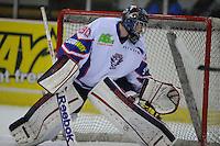 IJSHOCKEY: HEERENVEEN: THIALF: 16-01-2013, Friesland Flyers - Tilburg Trappers, Eindstand 1-3, goalie Martijn Oosterwijk (# 30), ©foto Martin de Jong