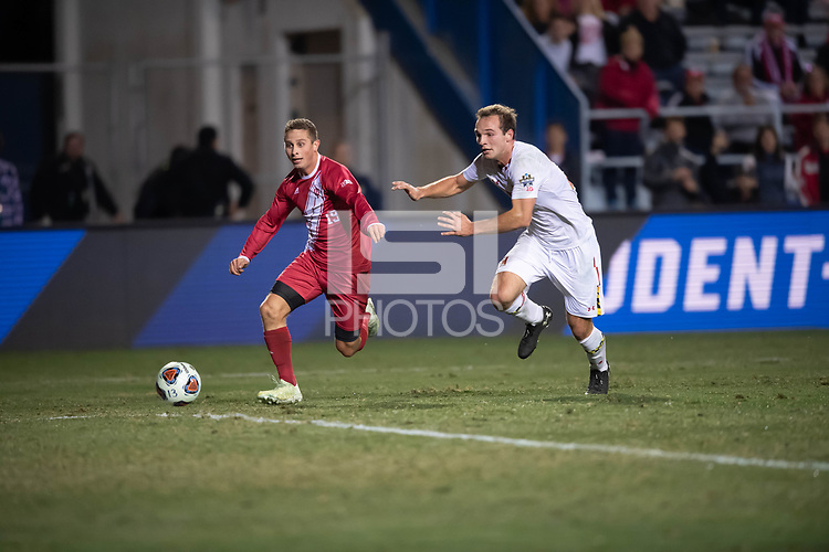 Santa Barbara, CA - Friday, December 7, 2018:  Maryland men's soccer defeated Indiana 2-0 in a semi-final match in the 2018 College Cup.  Rece Buckmaster