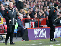 Blackpool's Manager Terry McPhillips looks on from the touchline <br /> <br /> Photographer David Shipman/CameraSport<br /> <br /> The EFL Sky Bet League One - Charlton Athletic v Blackpool - Saturday 16th February 2019 - The Valley - London<br /> <br /> World Copyright © 2019 CameraSport. All rights reserved. 43 Linden Ave. Countesthorpe. Leicester. England. LE8 5PG - Tel: +44 (0) 116 277 4147 - admin@camerasport.com - www.camerasport.com