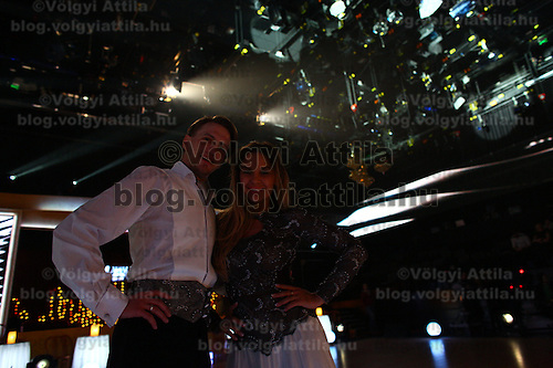 Live broadcast celebrity dancing talent show Saturday Night Fever by Hungarian television company RTL II in Budapest, Hungary on March 14, 2013. ATTILA VOLGYI