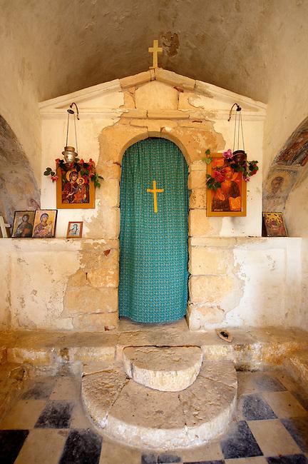 Interior of Ayii Theodori, Paliachora,   Aegina, Greek Saronic Islands