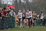 EVANSVILLE, IN - NOVEMBER 18: Runners continue past a bend in the course during the Division II Men's Cross Country Championship held at the Angel Mounds on November 18, 2017 in Evansville, Indiana. (Photo by Tim Broekema/NCAA Photos/NCAA Photos via Getty Images)