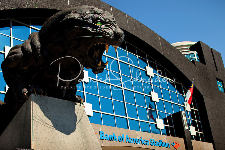 Bank of America Stadium in downtown Charlotte, home to the Carolina Panthers NFL team.