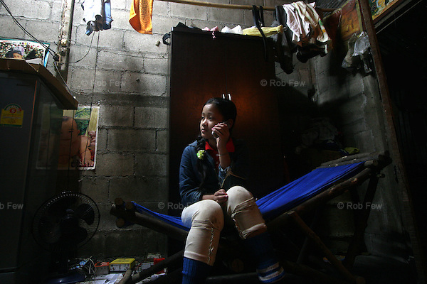 This is Tin Tin's older daughter. A recent law passed by Thailand's military government makes it illegal for migrant workers to use mobile phones and any Thai citizen is allowed to confiscate them on sight. Migrants are also prohibited from driving cars or motorbikes and are not allowed out of their houses after 8pm. Tin Tin does not let his daugther go to school. He says she is beautiful and he does not think it is safe for her to walk there and back. Rape of migrant children is a real threat and there is almost no chance of prosecuting offenders.<br /> <br /> Like migrant communities all over the world, the Burmese in Thailand are often reviled by their hosts. as lazy, dirty and dishonest. The truth, as always, is completely different.
