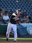 Reno Aces' third baseman Matt Davidson makes a play during a Triple-A baseball game against the Las Vegas 51s in Reno, Nev., on Sunday, July 21, 2013. The 51s won 15-8.<br /> Photo by Cathleen Allison