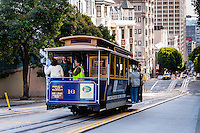 United States, California, San Francisco. The famous and unique San Francisco cable car system.