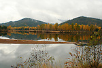 Autumn reflections in the Coeur D Alene River at Cataldo State Park