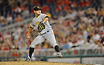 16 May 2012: Pittsburgh Pirates pitcher Evan Meek on the mound against the Washington Nationals at Nationals Park in Washington, DC. The Nationals defeated the Pirates 7-4 in the first game of their 2-game series. Mandatory Credit: Ed Wolfstein Photo