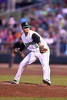 Dayton Dragons relief pitcher Jesus Reyes (8) during a game against the South Bend Cubs on May 11, 2016 at Fifth Third Field in Dayton, Ohio.  South Bend defeated Dayton 2-0.  (Mike Janes/Four Seam Images)