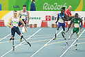 (L-R) Richard Whitehead (GBR), Ntando Mahlangu (RSA), <br /> SEPTEMBER 11, 2016 - Athletics : <br /> Men's 200m T42 Final <br /> at Olympic Stadium<br /> during the Rio 2016 Paralympic Games in Rio de Janeiro, Brazil.<br /> (Photo by AFLO SPORT)
