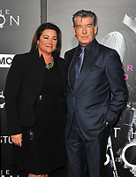 www.acepixs.com<br /> <br /> April 3 2017, LA<br /> <br /> Pierce Brosnan and journalist Keely Shaye Smith arriving at the premiere of AMC's 'The Son' at the ArcLight Hollywood on April 3, 2017 in Hollywood, California. <br /> <br /> By Line: Peter West/ACE Pictures<br /> <br /> <br /> ACE Pictures Inc<br /> Tel: 6467670430<br /> Email: info@acepixs.com<br /> www.acepixs.com
