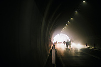Mist in the Passo del Turchino tunnel (532m); the highest point of the race<br /> <br /> 109th Milano-Sanremo 2018<br /> Milano > Sanremo (291km)