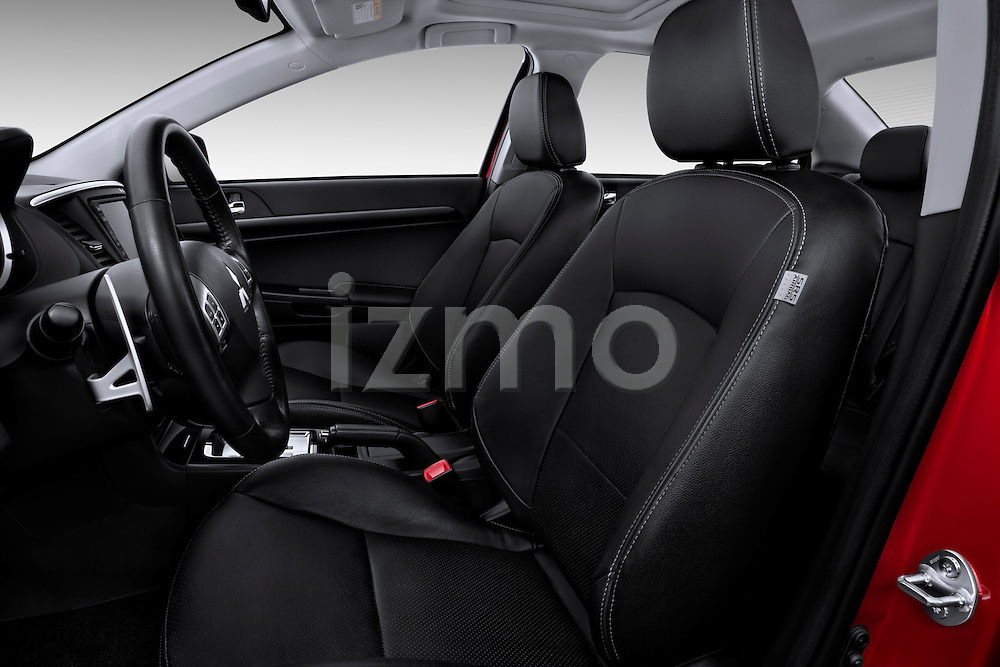 Front seats of a 2012 Mitsubishi Lancer GT Touring