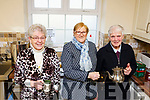 Mamie Kearney, Eileen Mulvihill and Kitty McElligott  Ballylongford enjoying a cuppa at the Ballylongford Active Retirement Coffee Morning in aid of the Irish Heart Foundation in the Parish Hall on Friday morning last.