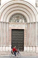 Il portone principale del Battistero di Parma.<br /> The main doorway of the Baptistery of Parma.<br /> UPDATE IMAGES PRESS/Riccardo De Luca