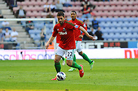 Tuesday, 7 May 2013<br /> <br /> Pictured: Angel Rangel of Swansea City Re: Barclays Premier League Wigan Athletic v Swansea City FC  at the DW Stadium, Wigan